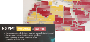 Photo: Newseum World Press Freeedom Map Sept. 2013
