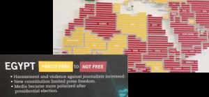 Photo: Newseum World Press Freeedom Map Sept. 2013