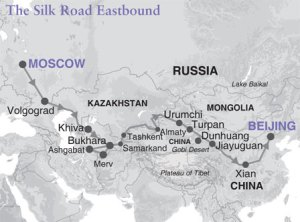 Silk Road Map.