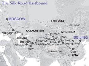Silk Road Map.