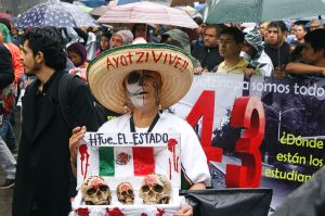 March on the one-year anniversary of Ayotzinapa