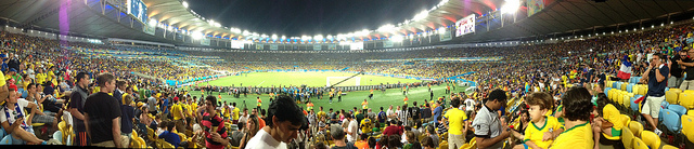 France vs Ecuador during the 2014 FIFA World Cup at the Maracana stadium.