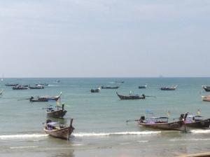 Long Boats in Krabi, Thailand